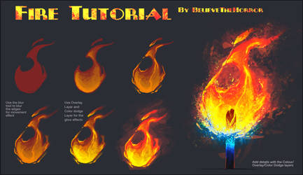 Fire Tutorial by BelieveTheHorror