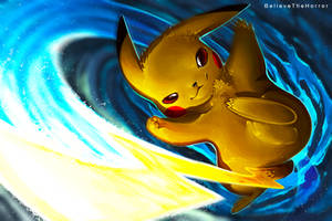 Pikachu Iron Tail by BelieveTheHorror