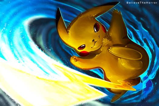 Pikachu Iron Tail by BelieveTheHorror