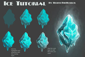 Ice Tutorial by BelieveTheHorror
