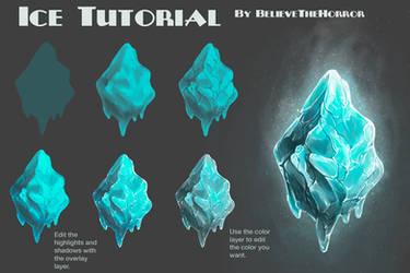 Ice Tutorial by BelieveTheHorror