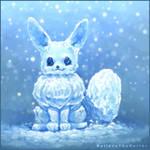 Snow Eevee by BelieveTheHorror