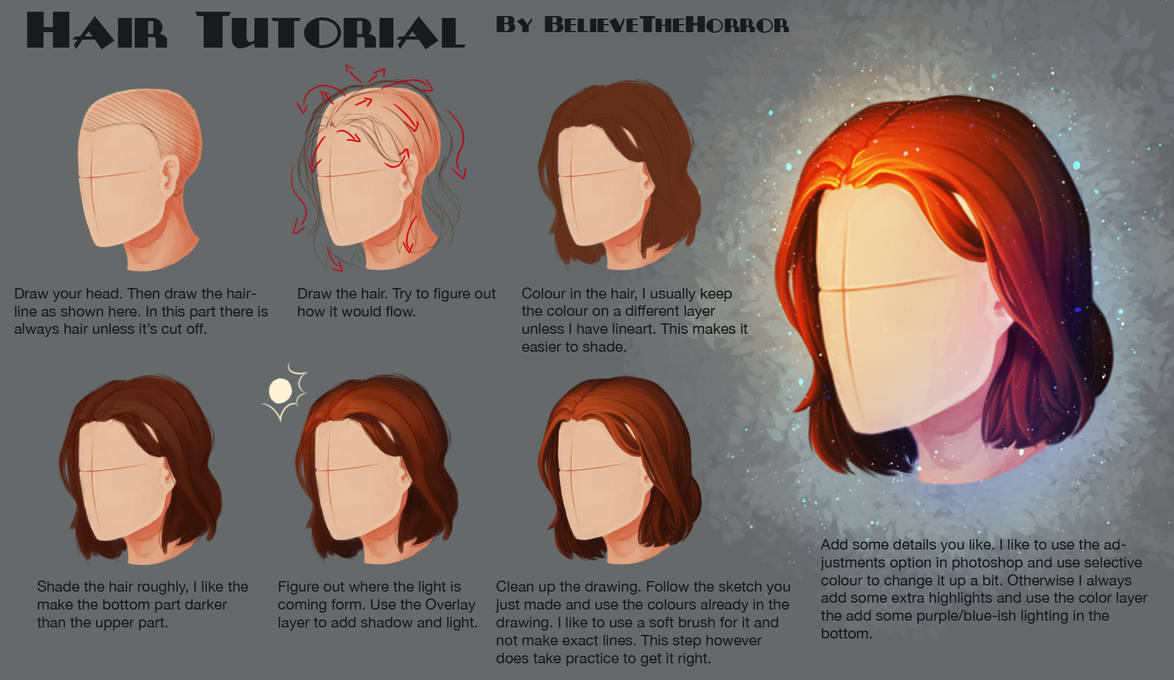 Hair Drawing Tutorial Photoshop