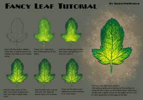 Fancy Leaf Tutorial by BelieveTheHorror