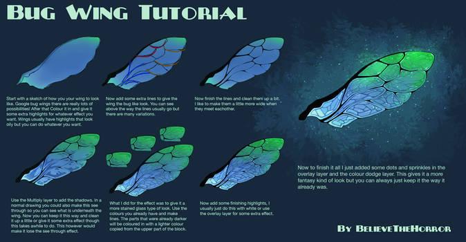 Bug Wing Tutorial by BelieveTheHorror
