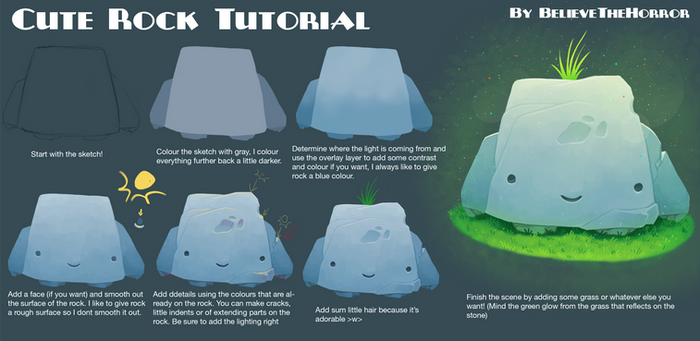 Cute Rock Tutorial