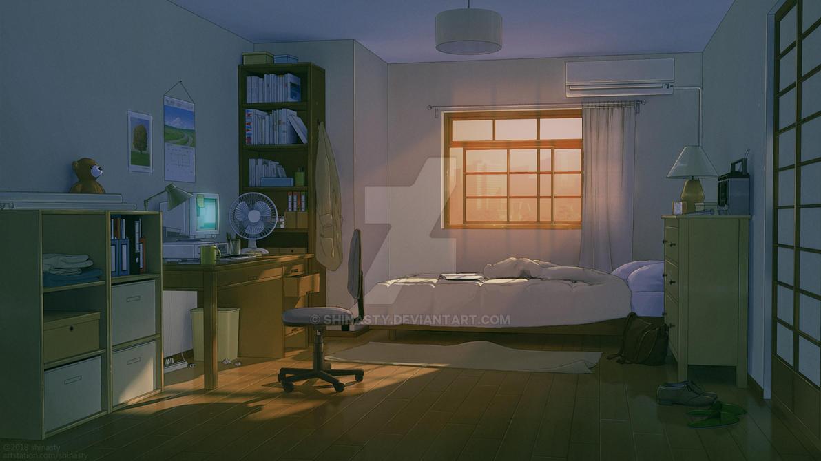Anime bedroom by shinasty