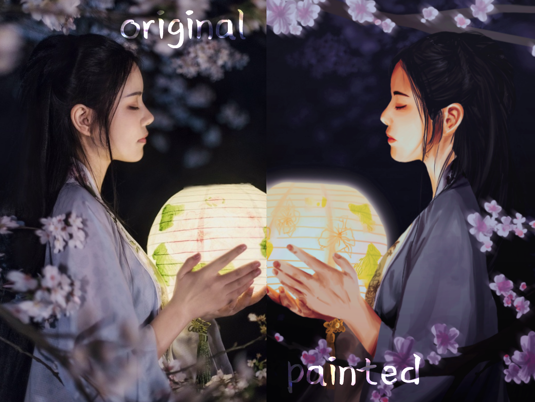 original vs painted