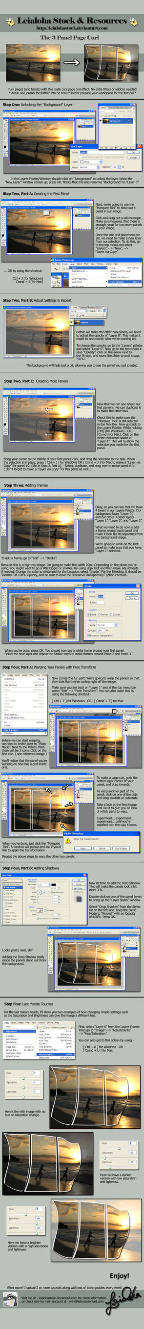 3 Panel Page Curl - Tutorial by leialohastock on DeviantArt