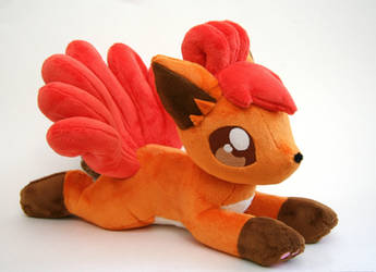 Laying Vulpix Plush by Yukamina-Plushies