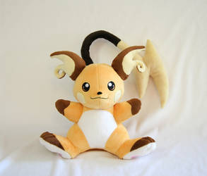 Raichu Plush by Yukamina-Plushies