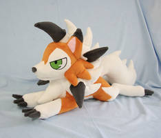 Dusk Lycanroc Plush by Yukamina-Plushies