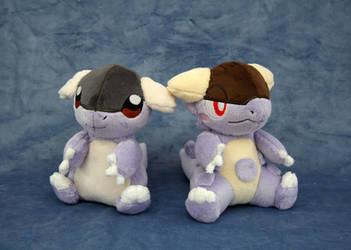 Baby Kangaskhan Plushies by Yukamina-Plushies