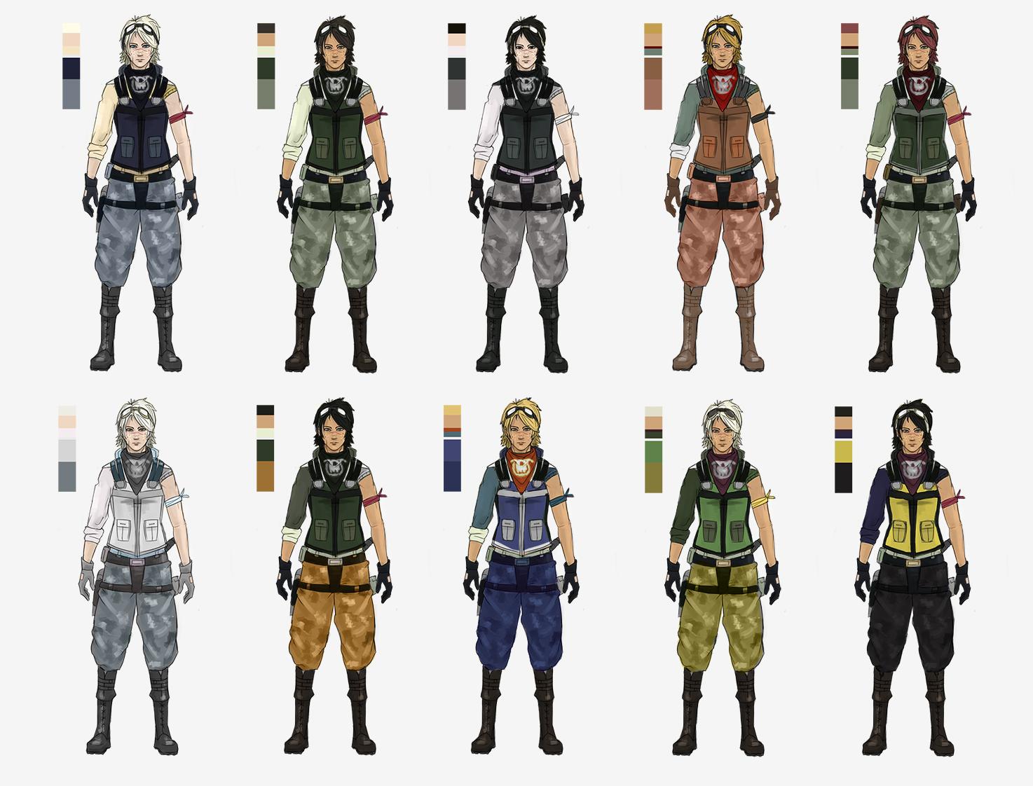 Character Design Colour Palette : Character color schemes by kaisercvr on deviantart