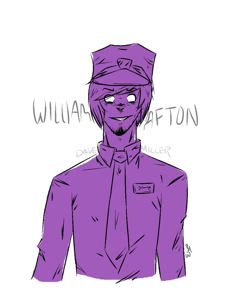 William Afton Sketch By Davetrap