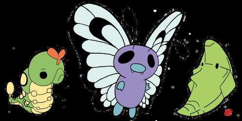 Pokemon 010-012 by OptimalProtocol