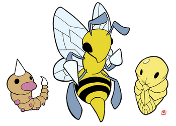 Pokemon 013-015 by OptimalProtocol