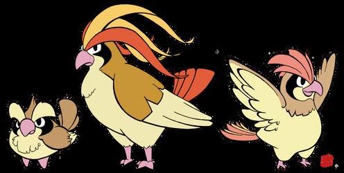 Pokemon 016-018 by OptimalProtocol