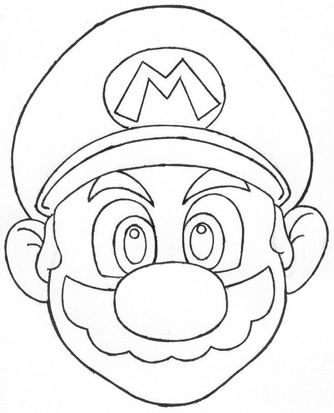M Mario Mushroom Coloring Pages