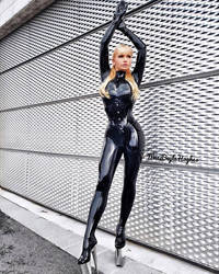 Miss Beyla Hughes latex catsuit extreme platforms by Castheel63