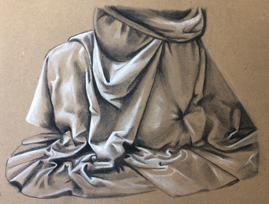 Charcoal drawing of fabric | My Drawings & Paintings ...