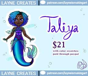 Taliya: Adoptable Chibi Mermaid OPEN by Lainpinky131