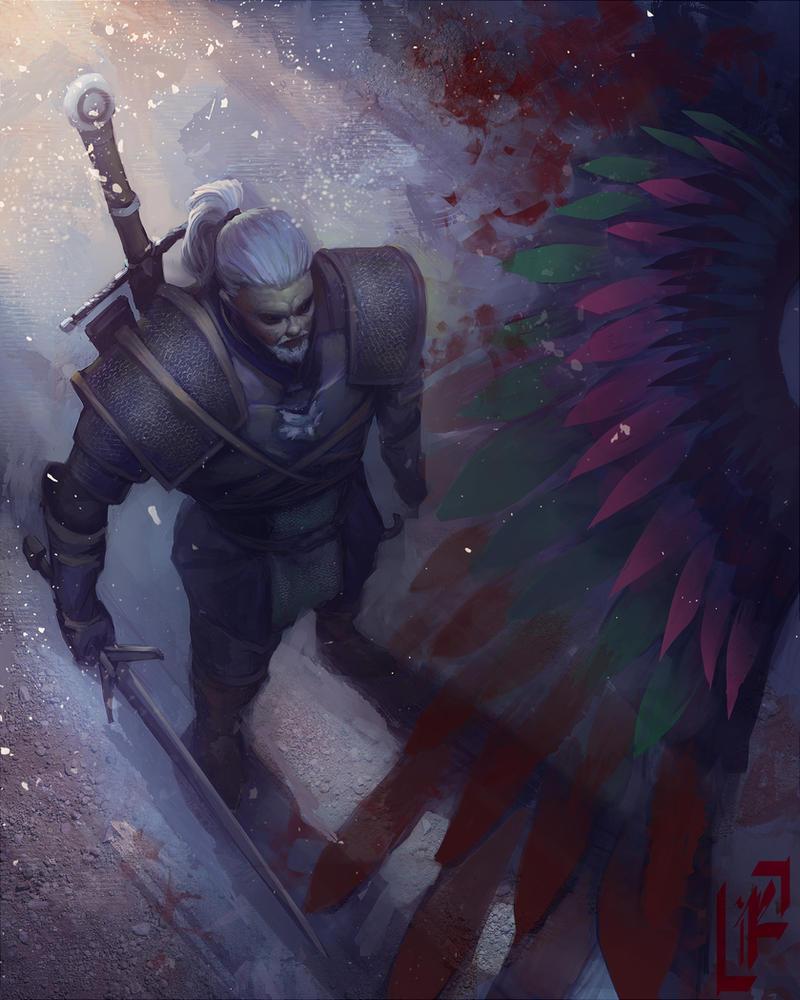 Geralt of Rivia by KiraLNG