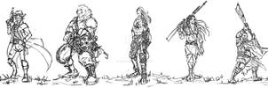 Commission - Character Designs Sketches