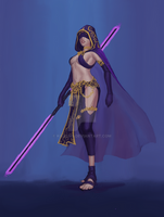Commission - Sith Lady Character Illustration by KiraLNG