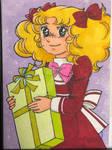 Candy Candy holding a present by gouzigouzi
