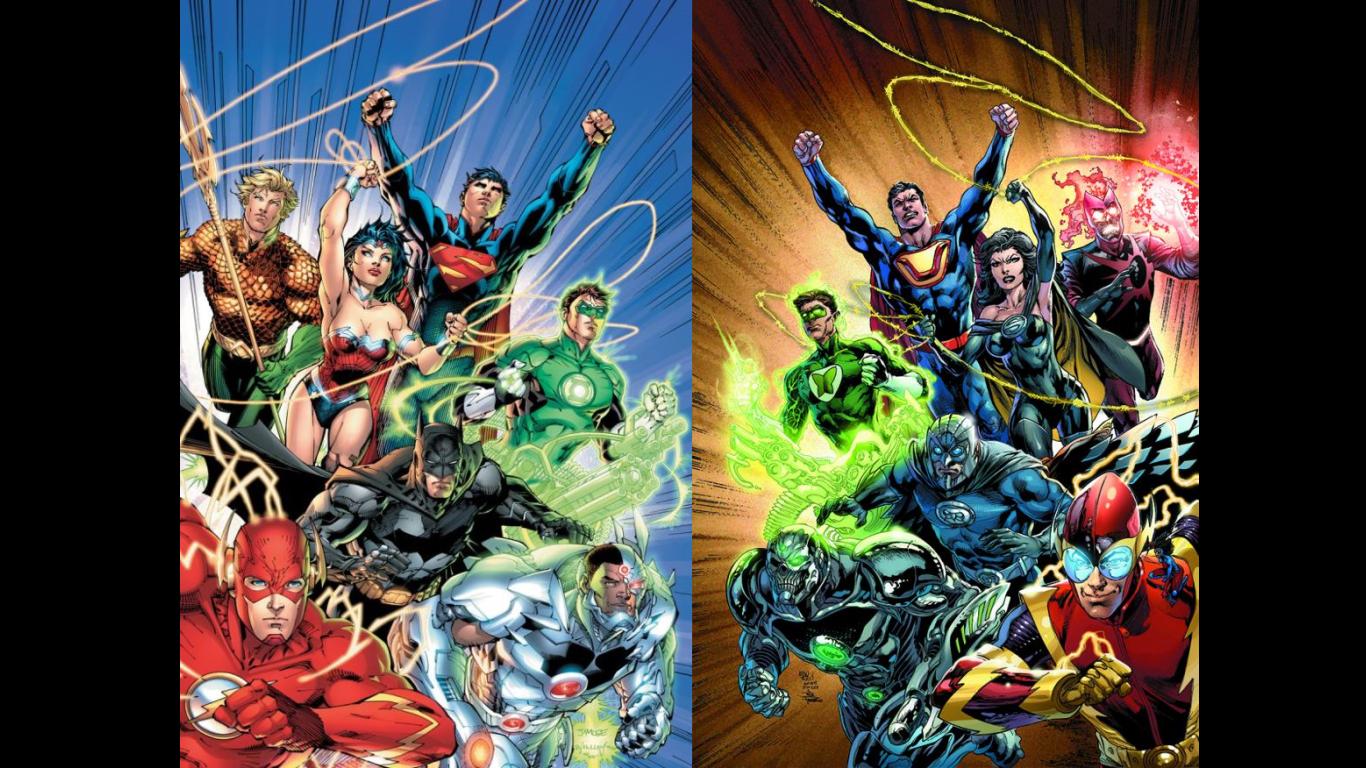 New 52 Justice League Vs Crime Syndicate By Vampirella