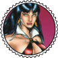 Vampirella Round Stamp by Vampirewiccan
