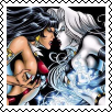 Vampirella Lady Death Square stamp by Vampirewiccan