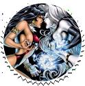 Vampirella Lady Death Round Stamp by Vampirewiccan
