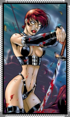 (Chaos Comics) Chastity Big Stamp by Vampirewiccan