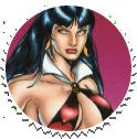 Vampirella Round Stamp 01 by Vampirewiccan