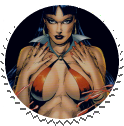 Vampirella Round Stamp 02 by Vampirewiccan