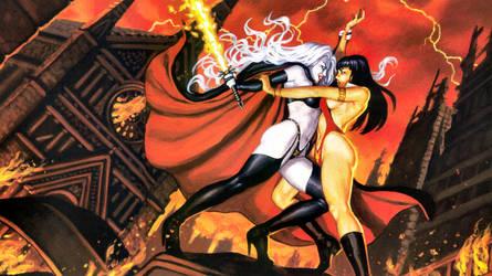 Vampirella vs Lady Death Wallpaper