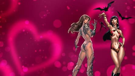 Vampirella / Witchblade Wallpaper