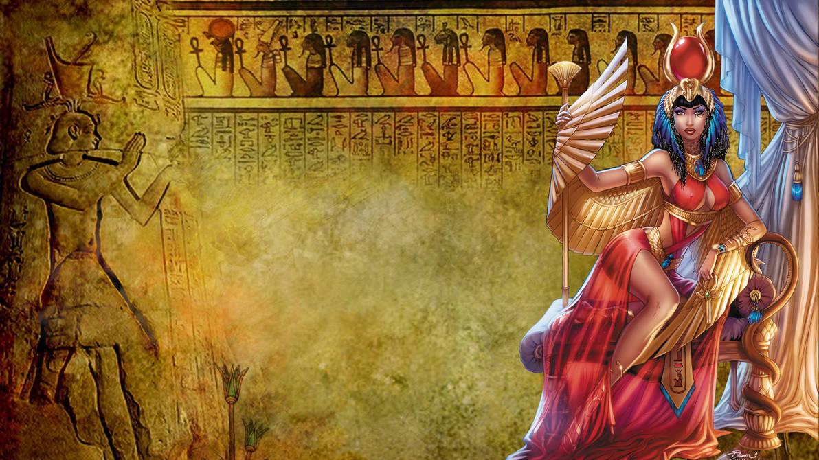 Isis Egyptian Wallpaper