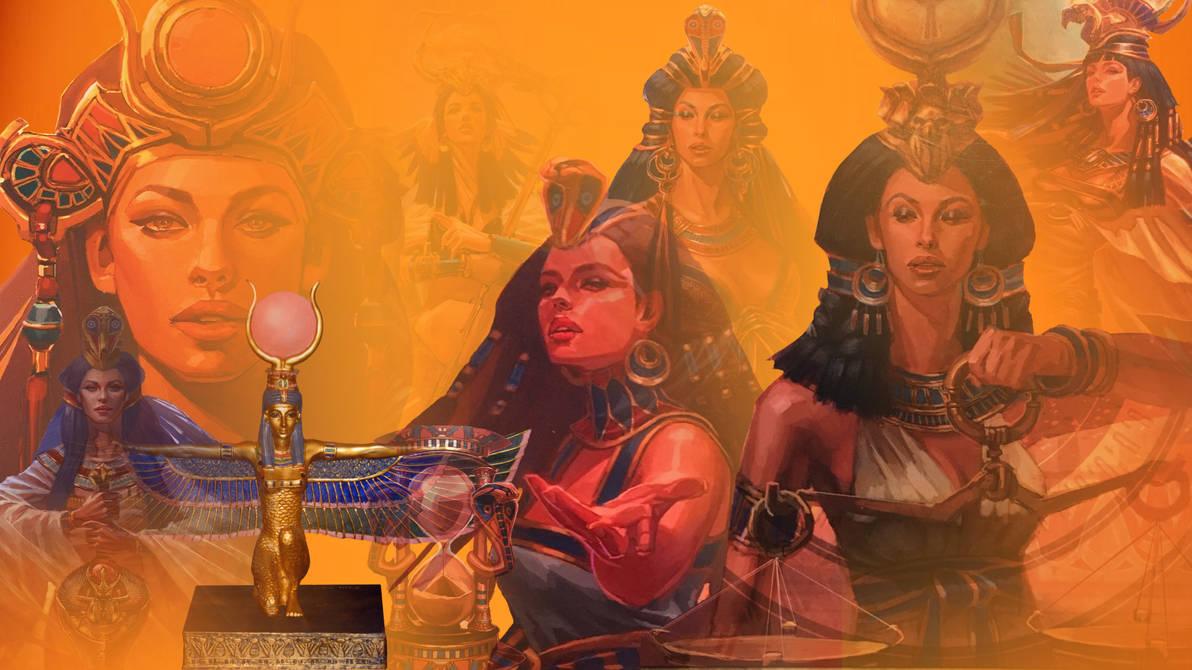 Egyptian Goddess Isis Wallpaper