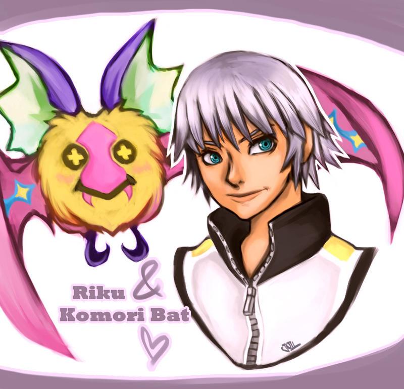 Riku and Komori Bat by Jullika