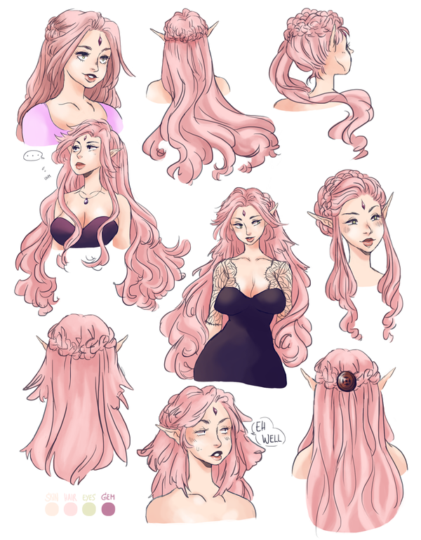 Oc Hairstyle Doodles By Jullika On Deviantart