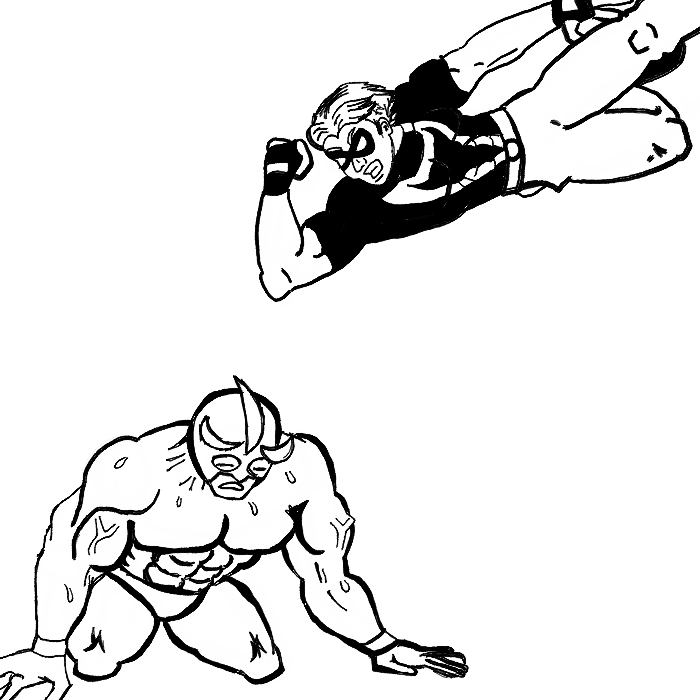 Joe Hero vs. Aguila by Calvin228