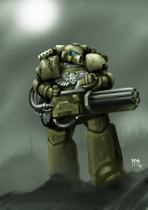 Space Marine Brother Cruentus by B0CHI