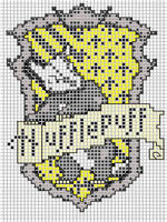Hufflepuff embroidery pattern by Ronjaliek