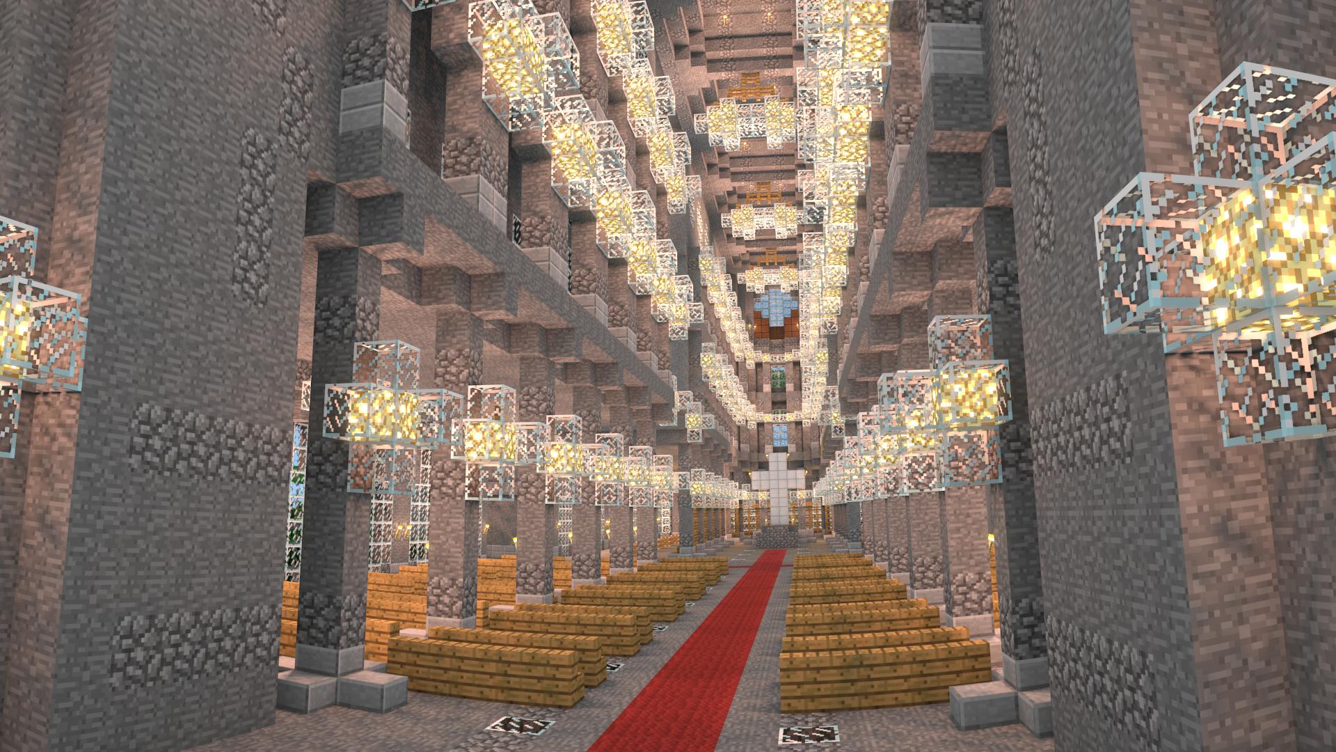 Minecraft Interior Lighting Intended Minecraft Cathedral Interior By Terraben On Deviantart