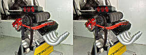 Dragster v8 Engine in 3D (stereoscopic) 4