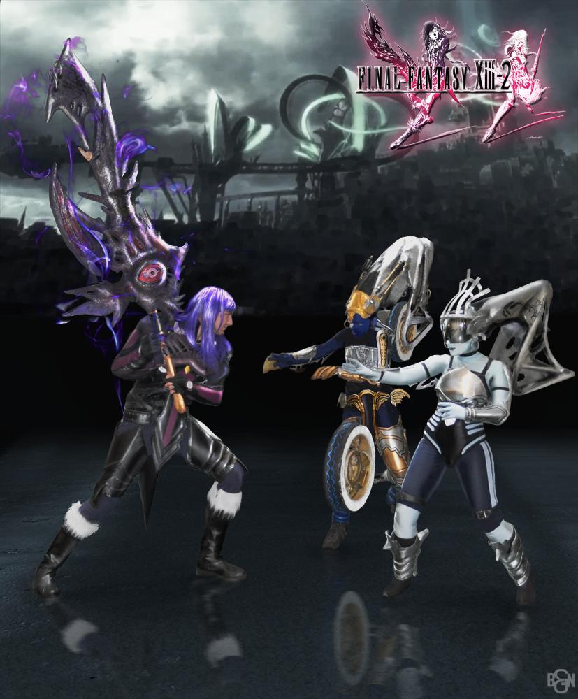 FFXIII-2: Caius vs Shiva Sisters Cosplay by Nobodyyyyy