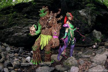 Zyra and Maokai cosplay: Thorns and Bark by Nobodyyyyy